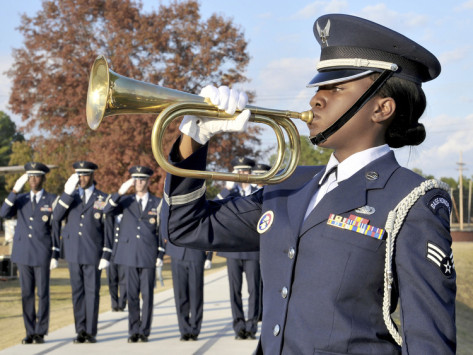 stocktrek-images-airman-plays-taps-during-the-veterans-days-retreat-ceremony-at-little-rock-air-force-base